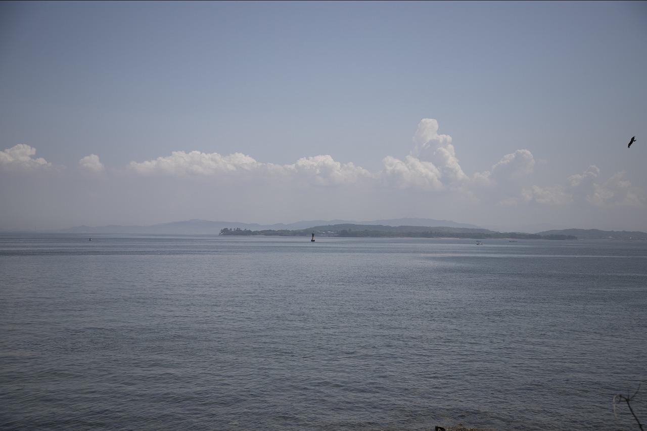 島から眺める景色