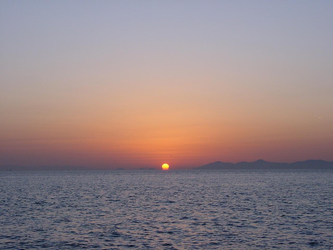 サンライズビーチの朝日